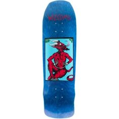 Welcome Skateboards <br> Welcome Krampus on Time Traveler Deck<br> Blue Stain 8.8x32.4