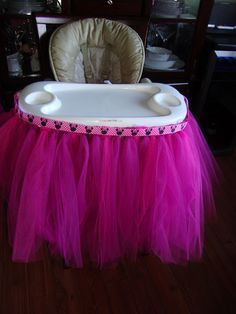 No Sew Highchair Tutu