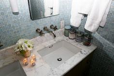 Karlie Kloss's bathroom and Top Shelf for Into the Gloss