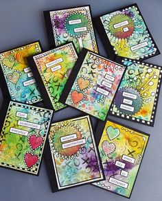 I'm Teresa and welcome to my first post as part of the amazing Joggles DT. I am so excited to be here with you, sharing my ideas and techniques, and hopefully inspiring you to try them for yourself. Art Journal Pages, Art Journaling, Art Trading Cards, Artist Card, Rolodex, Atc Cards, Handmade Books, Small Art, Art Journal Inspiration