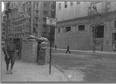 La Gran Vía de Madrid, durante la Guerra Civil, en 1936 Via secretos de Madrid
