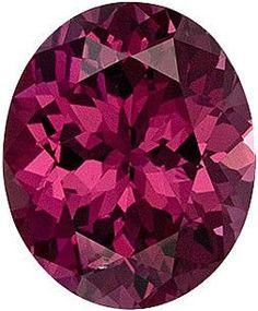 Genuine Rhodolite Garnet Loose Gemstone, Red Violet Color, Oval Cut, 11.5 x 9.5 mm, 4.95 Carats at BitCoin Gems