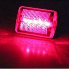 Red Led Motorcycle Brake and Tail Lights Flashing Warning Clip Lamp