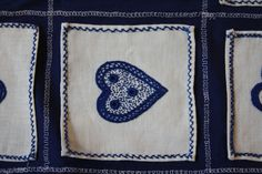and love is every where - Guimarães folk embroidery.