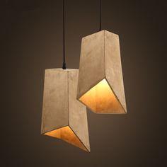 lampara de cemento - Buscar con Google