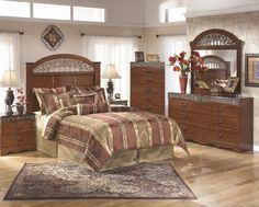 Fairbrooks Estate 3 Pc. Bedroom - Dresser, Mirror, Queen/Full Panel Headboard