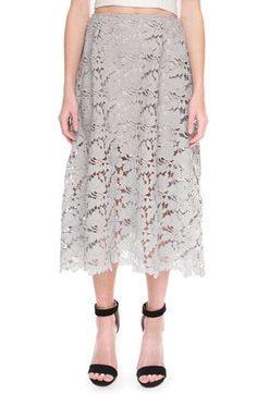Keepsake the Label 'Say My Name' Lace Midi Skirt