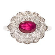 Ruby and diamond ring. So pretty.