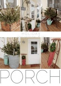 Simple & Natural Christmas porch from Josie Jones