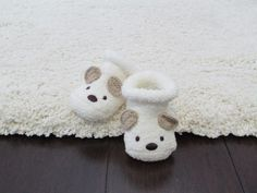 Gray Baby Boy Nursery Slippers. Too cute not to pin!
