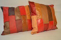 leather  cushion handmade