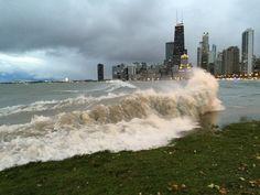 chicago coastline lake michigan