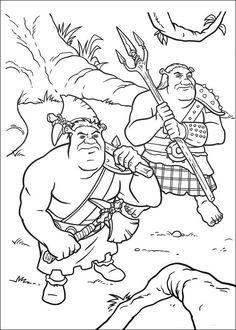 Shrek Tegninger til Farvelægning. Printbare Farvelægning for børn. Tegninger til udskriv og farve nº 118