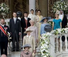 a lavish religious ceremony that followed a civil service, Prince Albert of Monaco and Princess Charlene, gathered their family and European royals for an official group portrait at the Prince's Palace, which is where the Roman-Catholic ceremony was held on Saturday.