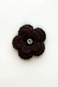 Coffee Flower Brooch by PowersOfLove on Etsy, $5.50