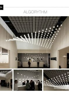 jun 2015 toan nguyen brings mathematical order to algorithm lighting for vibia toan nguyen brings mathematical order to algorithm lighting for vibia image courtesy of vibia 'algorithm' is an . Commercial Lighting, Commercial Design, Commercial Interiors, Office Lighting, Interior Lighting, Lighting Design, Light Architecture, Interior Architecture, Ceiling Design