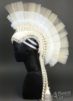 Horsehair Crin Mohawk Headdress by MissGDesignsShop on Etsy
