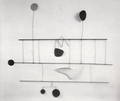 "Alexander Calder ""Blériot"", 1949, painted metal and wire."