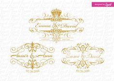 luxury wedding logos by Linvit on Etsy