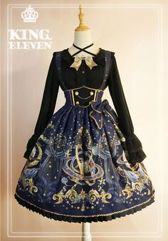King Eleven -The Demon King of This Universe- Lolita High Waist Skirt Salopette: