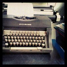 New word on old typewriter.