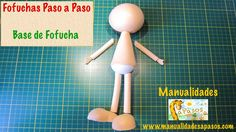 Fofuchas Paso a Paso. Base de Fofuchas Foam Crafts, Diy And Crafts, Doll Face Paint, Colors For Skin Tone, Foam Sheets, Fairy Dolls, Diy Clay, Diy Gifts, Projects To Try
