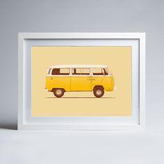 Florent Bodart - Famous Car #3 - Little Miss Sunshine's VW Combi T2 - Framed print