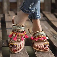 Boho Sandals, Sandals Outfit, Fashion Sandals, Flat Sandals, Women Sandals, Stylish Sandals, Gladiator Sandals, Fashion Rings, Leather Sandals