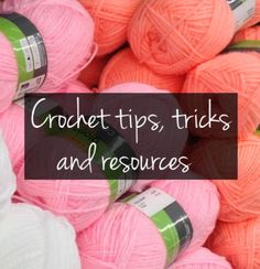 Crochet tips, tricks and resources – Snappy Living  Here's a collection of 42 tips to make your crocheting easier and more productive. Some of them are about the crocheting itself, but most are about keeping your supplies organized and in good order, and avoiding common problems and pitfalls that happen in crochet work. I hope they help you out! Crochet Tips To keep balls of yarn from falling out and rolling around, put them down in a washed, repurposed cylindrical handiwipe container...