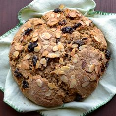 Cherry Almond Soda Bread (dried cherries, sliced almonds + ground almonds)