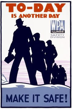 "WPA Poster for the ""New Deal"" program in  the 1930s"