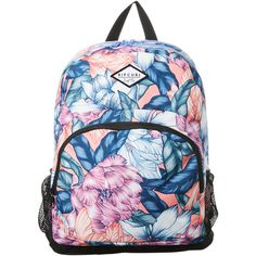 Rip Curl Primary New Bloom Backpack ($47) ❤ liked on Polyvore featuring bags, backpacks, accessories, women, zipper bag, rip curl, rucksack bags, padded backpack and knapsack bag