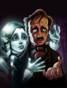 Illustration for Edgar Allan Poe's The Raven by David G. Forés.  www.ipoecollection.com