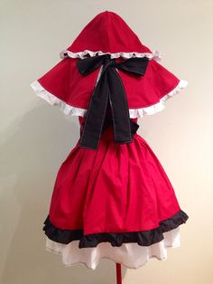 Little Red Riding Hood Costume Dress and Cape Set von skycreation