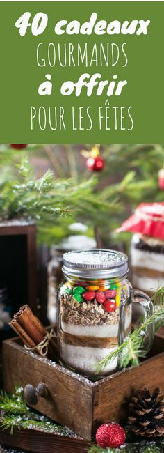 Confitures, cookies jar, sablés : 40 cadeaux gourmands à offrir pour Noël ! Homemade Christmas Gifts, Homemade Gifts, Diy Cadeau Noel, Christmas Time, Xmas, Handmade Christmas Decorations, Gourmet Gifts, Mason Jar Gifts, Edible Gifts