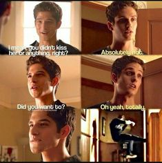 Teen Wolf Isaac Lahey and Scott McCall Season Daniel Sharman and Tyler Posey Stiles Teen Wolf, Teen Wolf Scott, Teen Wolf Dylan, Teen Wolf Isaac, Teen Wolf Memes, Teen Wolf Quotes, Teen Wolf Funny, Tyler Posey, Sterek