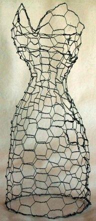 wire dress sculpture