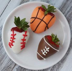 Sports- Dipped Strawberries: candy, orange, cocoa, strawberries