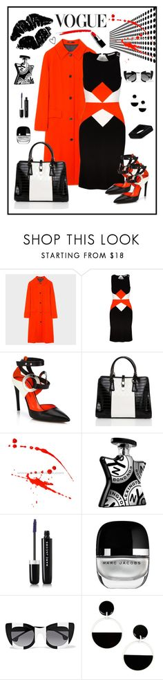 """Versace Collection Windowpane Dress"" by romaboots-1 ❤ liked on Polyvore featuring Paul Smith, Versace, Proenza Schouler, Jezzelle, Bond No. 9, Marc Jacobs, Alice + Olivia and Marni"