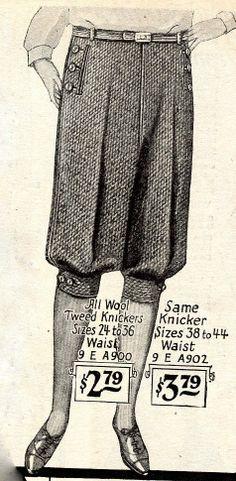 "Jodhpurs, ""Plus Fours"", shorts, Knickers... circa 1930 {Via Confessions of a Creative Dresser}"