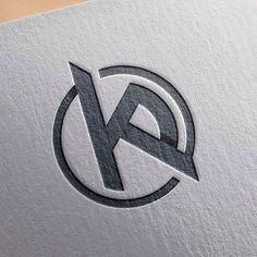 KP initials, logo/mark for personal use KP Project Logo Typo, Logo Branding, Branding Design, Initials Logo, Monogram Logo, Monogram Design, Logo Inspiration, Logos Online, Corporate Identity