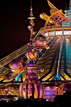 Space Mountain Orbiter Redux by idarknight on Flickr. Space Mountain, Disneyland Paris