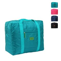 HAOCHU travel season 4 colors solid clothing storage bag portable makeup holder folding light large suitcase luggage bag #Affiliate
