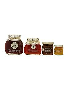 Luxury Christmas Hampers - House of Fraser Christmas Hamper, House Of Fraser, Bridges, Jars, Bottle, Box, Collection, Snare Drum, Pots