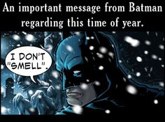 Batman's Holiday message