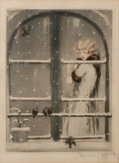 P. Louis Icart~  shabby n chic christmas decoration decor inspiration