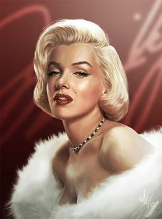 Portrait beautiful marilyn monroe artworks illustrations #marilyn