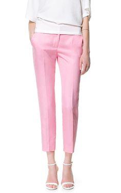 LINEN TROUSERS - Trousers - Woman | ZARA Greece