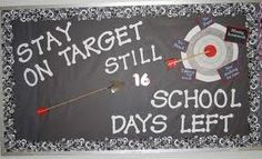 Cute bulletin board for the end of the school year.