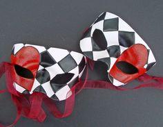 Harlequin Hearts,leather masks